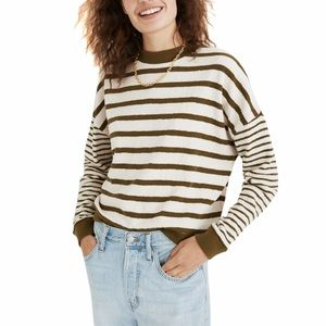 Madewell Stripe Play Knit Sweater Top